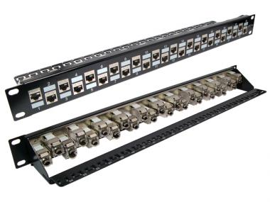 CAT.6A FTP SNAP-IN PATCH PANEL (ECKJAF24A-XX)