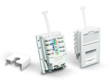 UK TYPE CAT.5E/6 LJ6C UTP RJ45 LJ6C MODULE (EC8225N-XXXX-WHY)