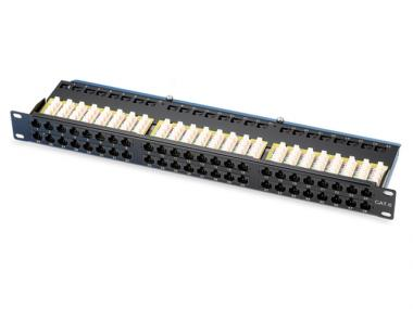 CAT.6 / 5E 1U 48 PORT UTP PATCH PANEL (ECPTB48)