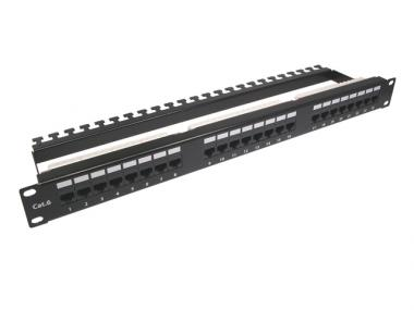 "CAT.6 19"" PATCH PANEL WITH SUPPORT BAR ( ECD )"