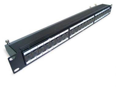 CAT.6A / 6 / 5E FTP PATCH PANEL (ECPSB24-FKR-CXC/BK)