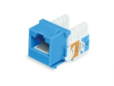 CAT.6 / 5E 90° PUNCH DOWN KEYSTONE JACK (KJNE)
