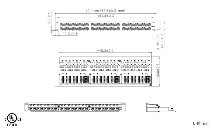 ECPTB48 UKR CXC_BK.im cat 6 5e 1u 48 port utp patch panel (ecptb48) krone block wiring diagram at mifinder.co