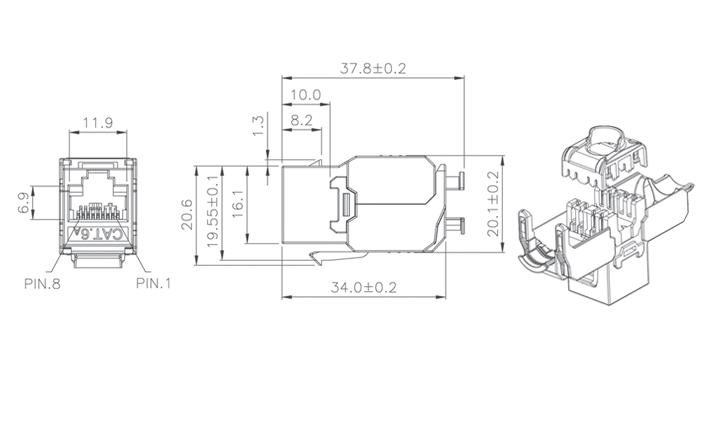 c6a ftp tool free keystone jack  kj28f